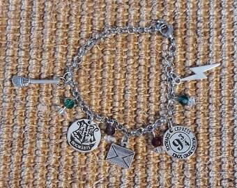 Wizard Beaded Charm Bracelet