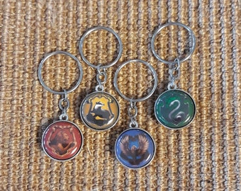 Two-sided House Crest Keychain