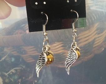 Golden Snitch Inspired Earrings