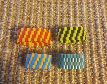 Hand-woven House Colors Ring