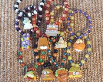Repurposed Grossery Gang Series 3 Beaded Bracelets