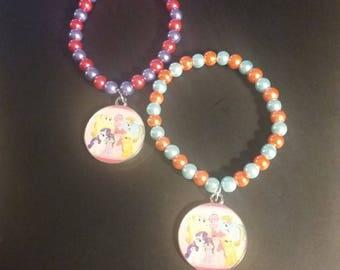 My Little Pony Inspired Beaded Charm Bracelet