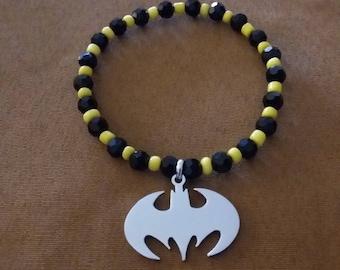 Batman Inspired Stretch Bracelet