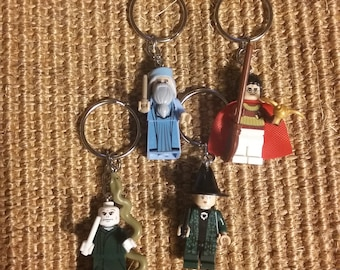 Potter Inspired Minifigure Keychains