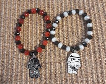 Star Wars Inspired Dark Side Stretch Bracelet