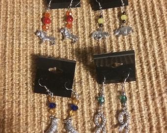 House Animal Earrings