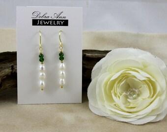 Biwa Pearl & Crystal Earring - Ocean Rainbow