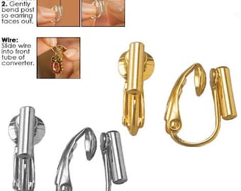 ef8ac02e4 Clip Earring Converter - Convert your pierced post and wire earrings into  clip-on earrings in a jiffy!