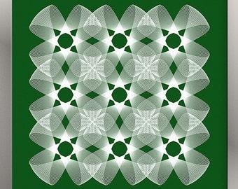 Green Geometric Art, Abstract Art Print, Home Decor, Printable Art, Instant Download, Modern Wall Art, Minimalist Decor, Green and White