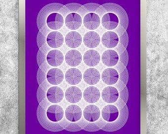 Purple Printable Art, Abstract Art Poster, Contemporary Art Print, Geometric Art, Instant Download, Digital Print, Modern Minimal Wall Art