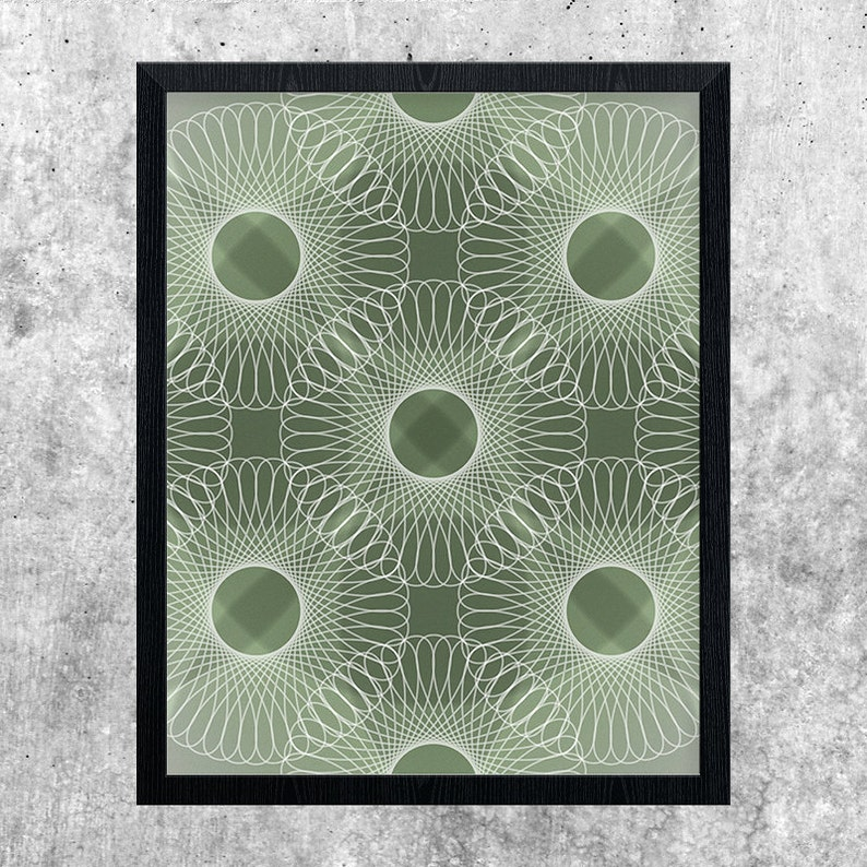 Modern Minimal Abstract Wall Art Print Geometric Printable image 0