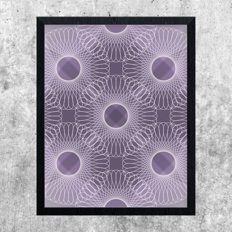 Purple Geometric Art Modern Art Instant Download Abstract image 0