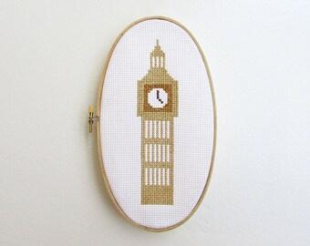 London Big Ben - Modern cross stitch pattern PDF - Instant download