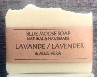 Lavender & Aloe Vera Soap / All Natural Soap/ Handmade Soap / Vegan Soap