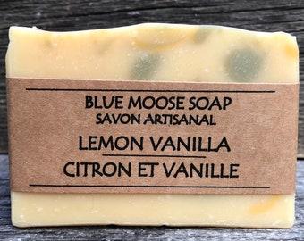 Lemon Vanilla Soap / All Natural Soap / Handmade Soap / Vegan Soap