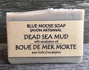 Dead Sea Mud Soap / Vegan Soap / Natural Soap / Eucalyptus Soap / Detox Soap / Spa Bar