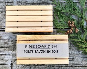 Pine Soap Dish - Wood Soap Rack - Natural Soap Dish - Handmade - No Waste