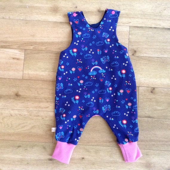 dcc1bfa311b8 Rainbow and hearts romper rainbow and and flower dungarees