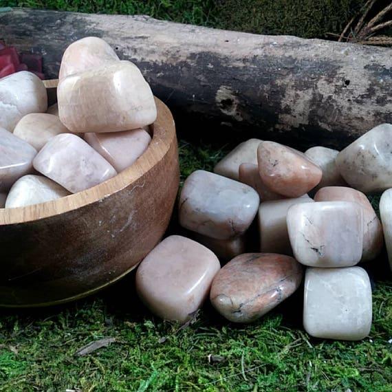 3 Peach moonstone tumbled stones peach moonstone crystals ...