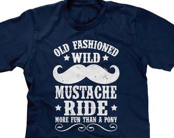 Blittzen Mens Tank Top Old Fashion Wild Mustache Ride