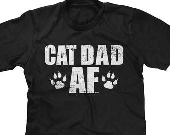 afb6358d Cat Dad AF Mens Short Sleeve T-shirt -Kitty Adopt Love Family Fluffy Funny  Humor Joke Family Friends -DT-01185