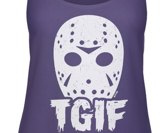 8cef591e947a7 Jason Mask - TGIF Razorback Tank Top -Halloween October Scary Movie Funny  Humor Costume Funny Humor Teenager Gift -DT-01920