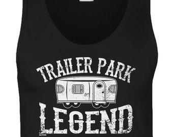 Trailer Park Legend Mens Tank Top - Friends Family Boyfriend Girlfriend Beer Party Happy Love Funny Humor Gift Present -DT-00761