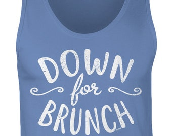 98eb725ed Down For Brunch Mens Tank Top -Drinking Drinks Drunk Friends Family Bloody  Mary Party Happy Love Brunch Funny Humor -DT-01262