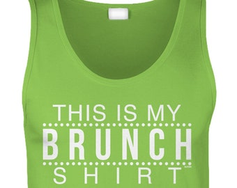 98060c292 This Is My Brunch Shirt Mens Tank Top -Drinking Drinks Drunk Friends Family Bloody  Mary Party Happy Love Hungover Funny Humor -DT-01266