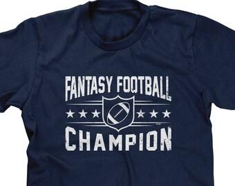 d6f5d5a0631a Fantasy Football Champion Mens Short Sleeve -Funny Humor Drinks Friends  Family Girlfriend Boyfriend Gift Present -DT-01873