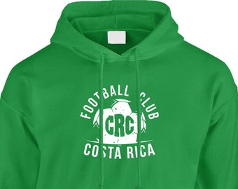 bcd7d1855 Football Club CRC Costa Rica Hooded Sweatshirt Pullover - Soccer Country  Pride Defense Offense Goal Happy Friends Gift - DT-01657