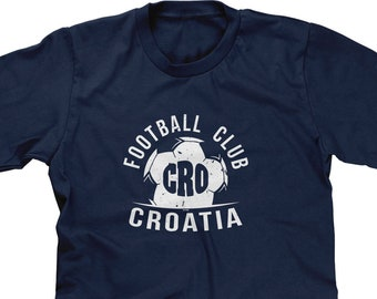 42e0b209c Football Club CRO Croatia Mens Short Sleeve - Country Pride Soccer Defense  Offense Goal Friends Love Happy Gift- DT-01658