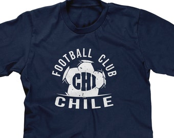 9cab386c3 Football Club CHI Chile Mens Short Sleeve - Country Pride Soccer Sports Defense  Goal Offense Friends Gift Love- DT-01655