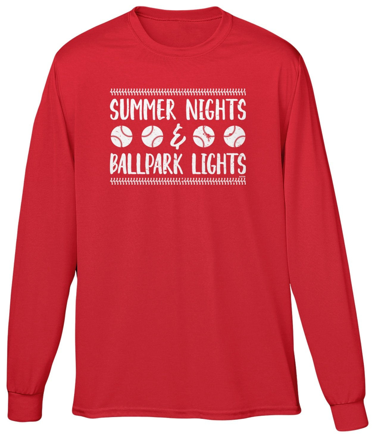 6da7fa37b019 Summer Nights   Ballpark Lights Mens Long Sleeve Spring
