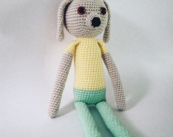 Crochet amigurumi Puppy, crochet Dog, gifts for kids, Puppy toy,plush Puppy, plush toys, handmade toy, amigurumi puppy, stuffed animals, dog