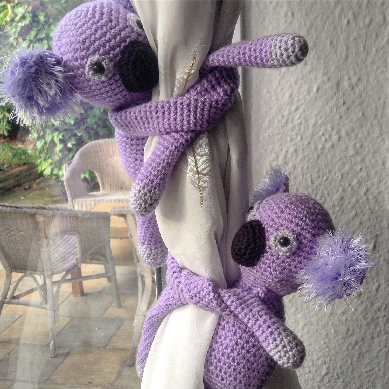 A Pair Of Koala Curtain Tie Backs Nursery Curtains Tie