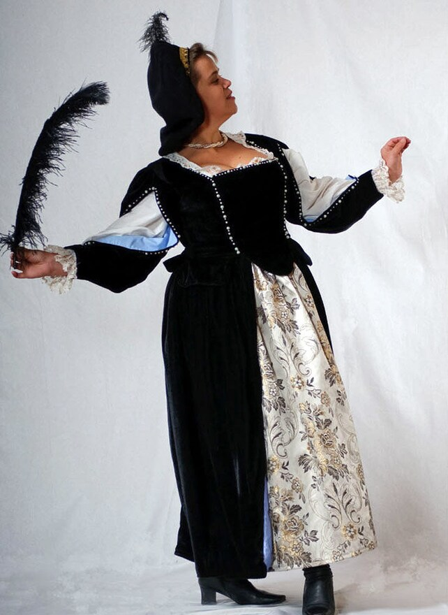 1600s women gown for 17th century ball Pre-owned   Etsy