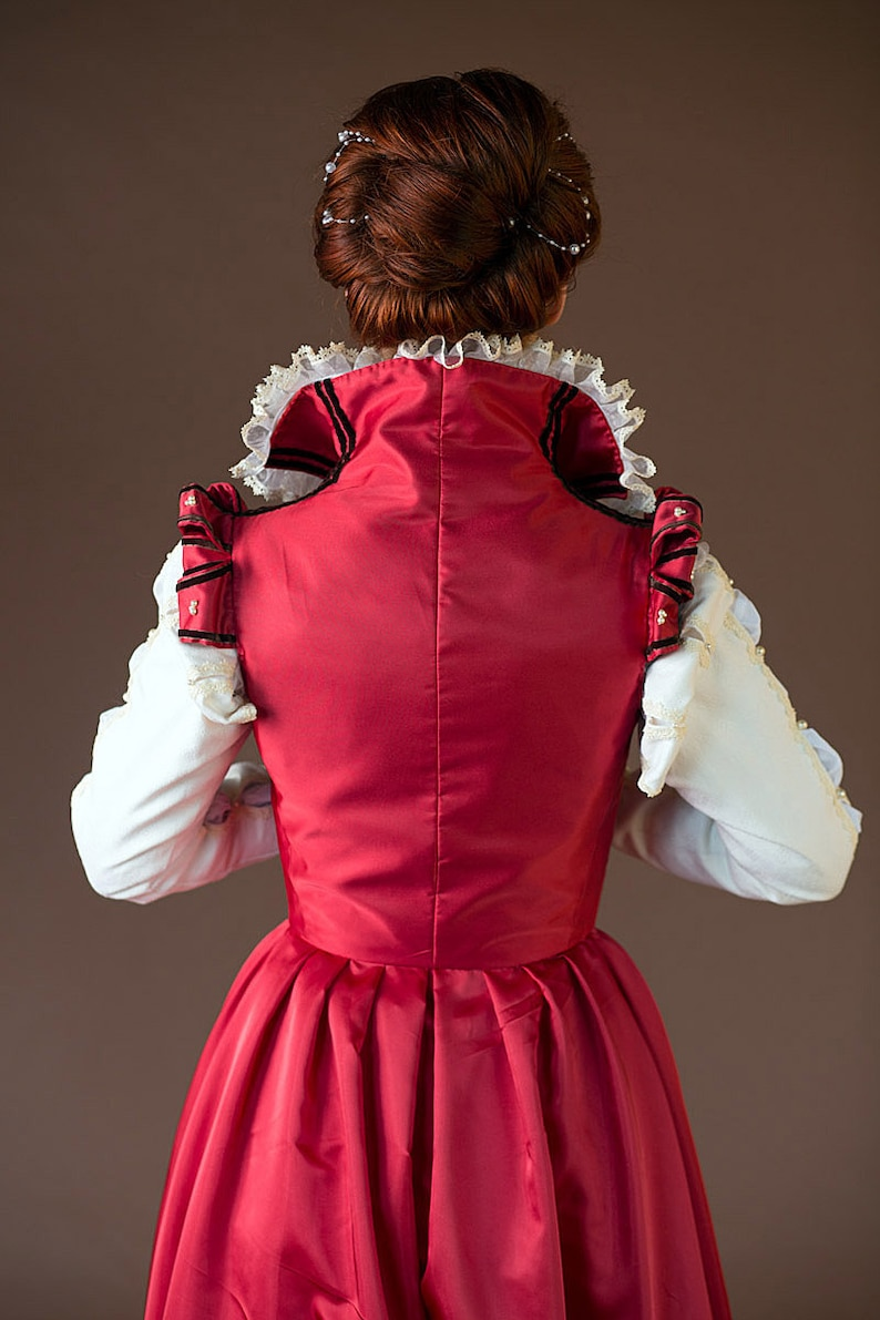 16th century Italian dress Red Renaissance gown Made to order