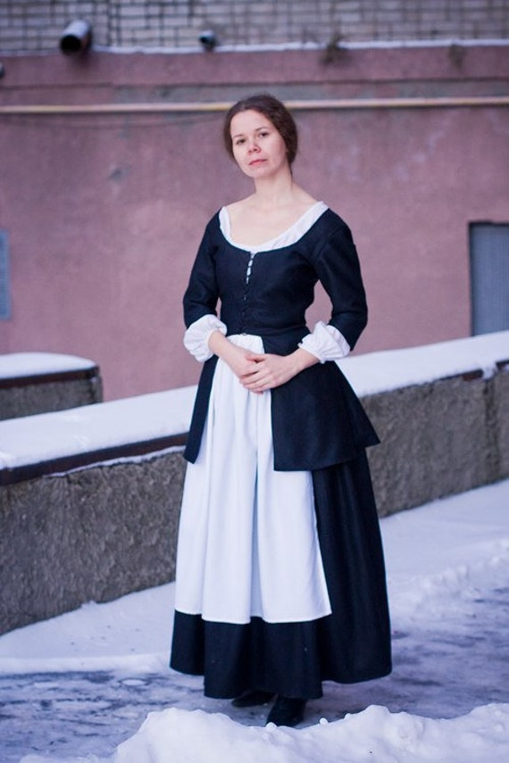 18th century peasant dress colonial clothing made to order