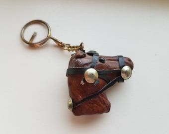 Leather Horse Head Key Ring dce1f1d24977