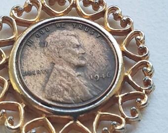 1946 Copper Penny Pendant