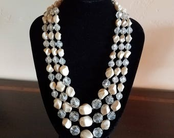 Triple Strand Necklace made in Germany