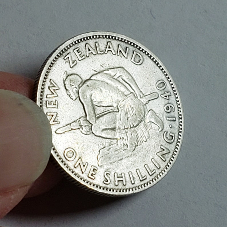 1940 New Zealand 1 Shilling Coin