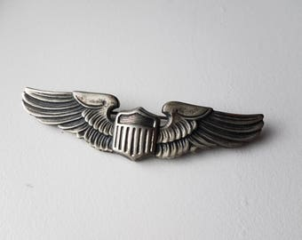 WWII Army Air Corps Sterling Pilot Wings