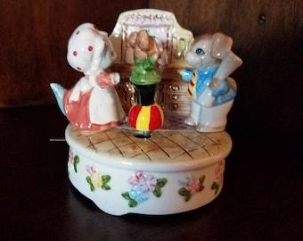 Lefton Toyland Musical Animated Porcelain Figurine