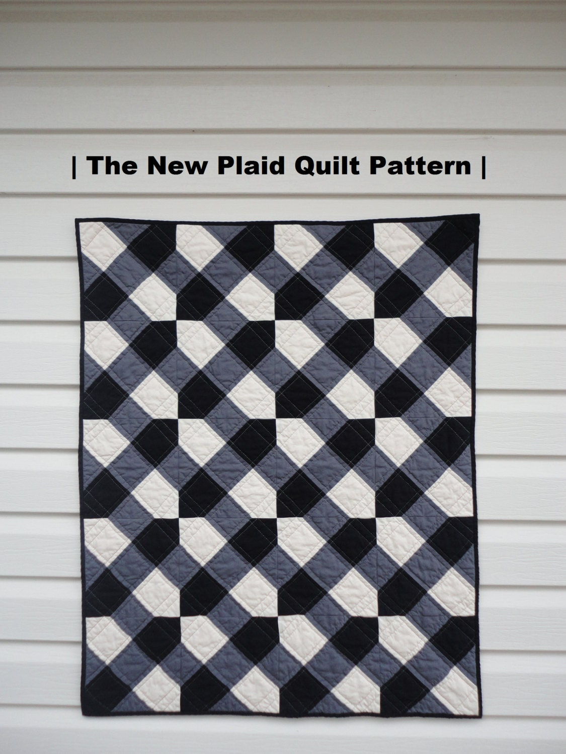 Plaid Baby Quilt: PDF Quilt Pattern The New Plaid Modern Baby Quilt