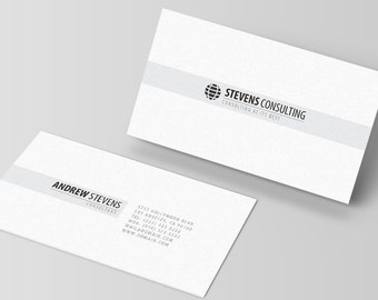 Minimal Professional Business Card Template [PSD | INSTANT DOWNLOAD | #002]