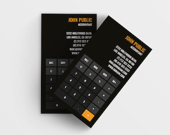 Tutor business card etsy accountant business card template math tutor business cards teacher calling card 35x2 psd instant download reheart Gallery
