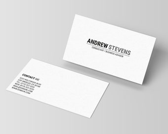 Black and white pattern business card template minimalist etsy minimalist business card template minimal business card design plain business cards simple calling card photoshop template 001 accmission Choice Image