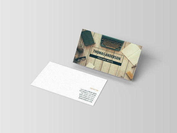 Modern business cards template freelance writers business etsy image 0 cheaphphosting Gallery